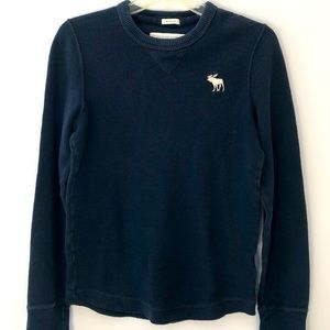 Abercrombie & Fitch navy thermal underwear shirt